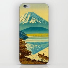 Japanese Woodblock Print Vintage Asian Art Colorful woodblock prints Mount Fuji iPhone Skin