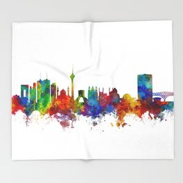 Tehran Iran Skyline Throw Blanket