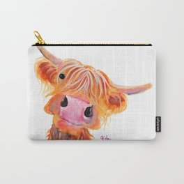 Scottish Highland Cow ' NESSIE ' by Shirley MacArthur Carry-All Pouch
