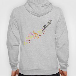 Trombone And Musical Notes Hoody