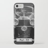 car iPhone & iPod Cases featuring Car vintage by Veronika