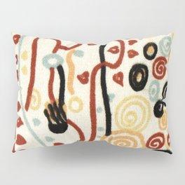"""Gustav Klimt """"Textile design - Model 6"""" Pillow Sham"""