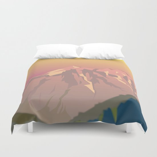 Night Mountains No. 47 Duvet Cover