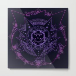 Ghost Mandala Metal Print