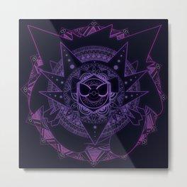 Ghost Mandala Metal Print