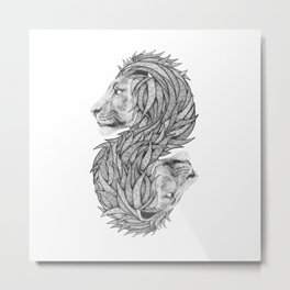 Courage to create Metal Print