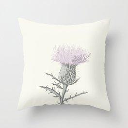 PASTEL THISTLE FLOWER Throw Pillow