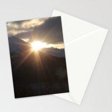 Golden Winter Sunshine Stationery Cards