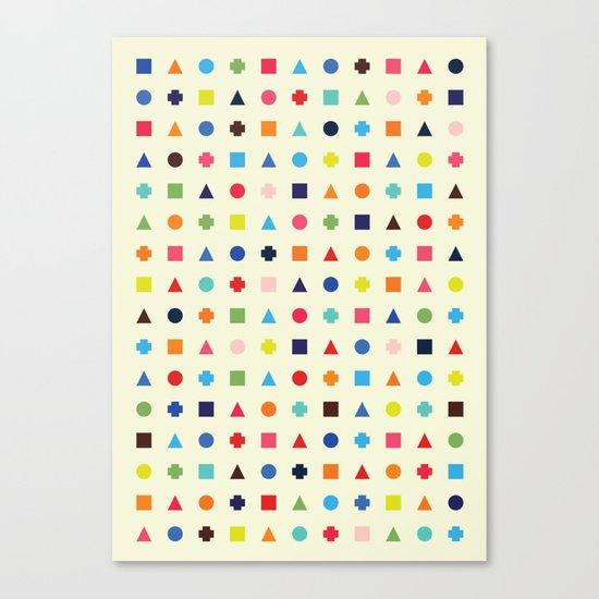 Dot Triangle Square Plus Repeat Canvas Print