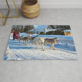 Dog Sled Race, Kearney, Ontario Rug