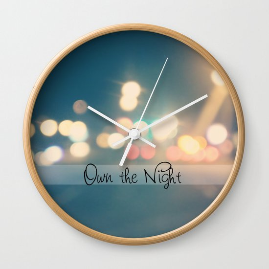 Own the Night Wall Clock