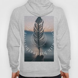 Psalm 91: He shall cover thee with his feathers Hoody