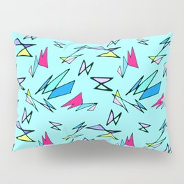 Wacky 80s//BLUE//Geo Pattern #3 Pillow Sham