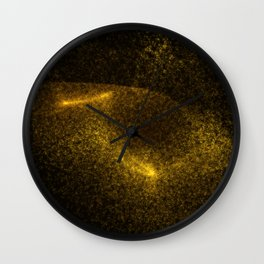 Abstract yellow glowing particles Wall Clock