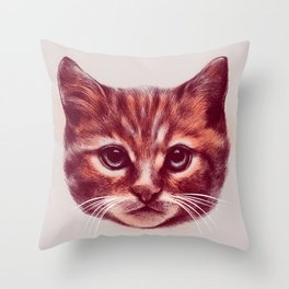 Everybody wants to be a Cat Throw Pillow