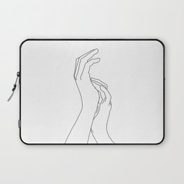 Hands line drawing illustration - Carly Laptop Sleeve