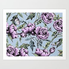 Summer Rose Garden Art Print