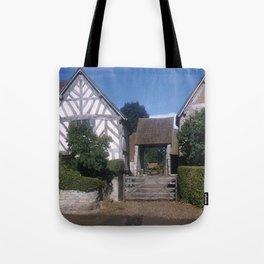 Mary Arden Home * 1950's * Barnyard * Stratford * England * Kodachrome * English Art Print Tote Bag