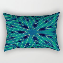 Teal Snowflake Rectangular Pillow