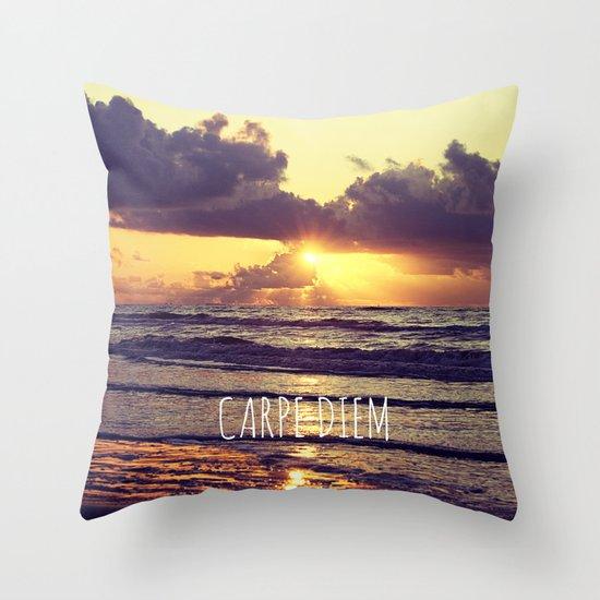 Carpe Diem Throw Pillow