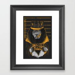 Royal Mugshot Framed Art Print