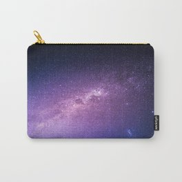 Purple Glitter Galaxy Carry-All Pouch