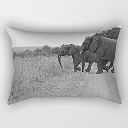African Elephants on a Journey Rectangular Pillow