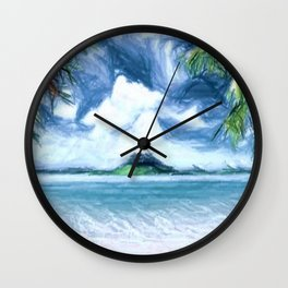 Destiny Island Wall Clock