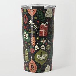 Holiday Ornaments Travel Mug