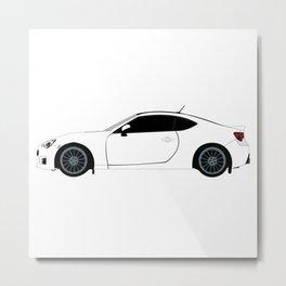 Subaru BRZ Metal Print