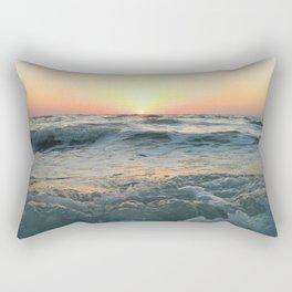 Sunsetting into Sea Rectangular Pillow