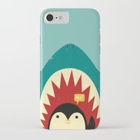 penguin iPhone & iPod Cases featuring Hi! by Jay Fleck