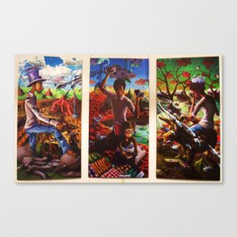Polarity in Paint Canvas Print