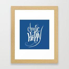 Choose Happy (Snorkel Blue) Framed Art Print
