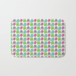 Colorful Hamster Butts Pattern Bath Mat