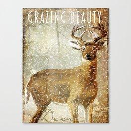 Wild Game Deer Winter Canvas Print