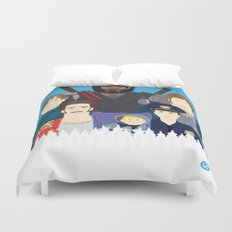 Finding Junior (Faces & Movies) Duvet Cover