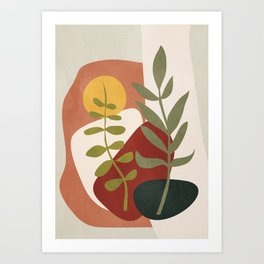 Two Abstract Branches Art Print