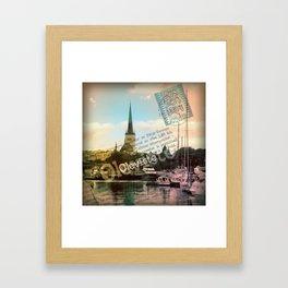 Northern city landscape. Framed Art Print