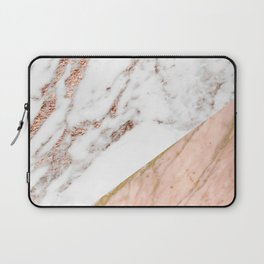 Marble rose gold blended Laptop Sleeve