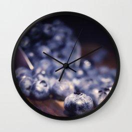 Spilled Blueberries Wall Clock