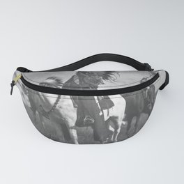 Sioux Native American First Nation Chiefs on the plains black and white photograph  Fanny Pack