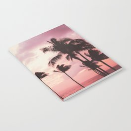 Tropical Palm Tree Pink Sunset Notebook