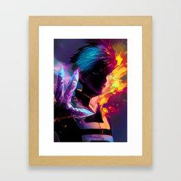 Neon Hot-Cold Framed Art Print