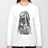 rebel Long Sleeve T-shirts featuring Rebel by Paula Fazlich
