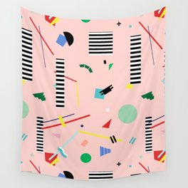 Memphis Geometry Lesson Wall Tapestry