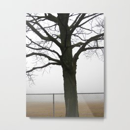It Sends The Fog To Fetch Me Metal Print