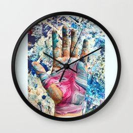 Hand Pour Wall Clock