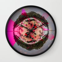 dc Wall Clocks featuring DC by Petra Heitler