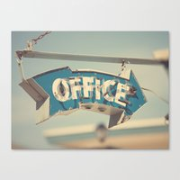 office Canvas Prints featuring Office by bomobob